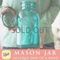 【超希少!激レア】アンティーク メイソンジャー Ball Mason jar  ビンテージ イーグル 鷲の彫刻入り ハーフガロン ブルー