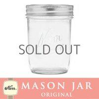 メイソンジャー 8oz レギュラーマウス  Kerr Mason jar オリジナル クリア ハーフパイント