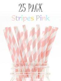 メイソンジャー Ball Mason jar タンブラー エコ 再生可能 紙ストロー25本入り サーキュラーエコノミー Stripes Pink