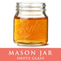 メイソンジャーショットグラス ウイスキーやウォッカに Mason jar  ショットグラス クリア