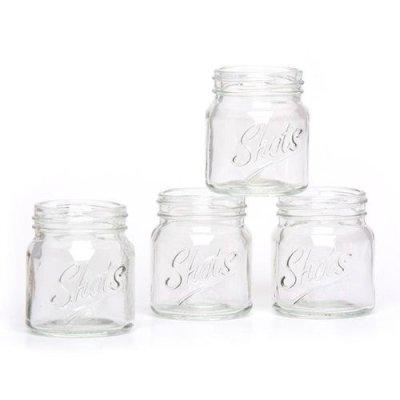 画像4: メイソンジャーショットグラス ウイスキーやウォッカに Mason jar  ショットグラス クリア