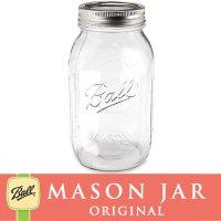 【★期間限定セール★】メイソンジャー 32oz  レギュラーマウス  Ball Mason jar オリジナル クリア
