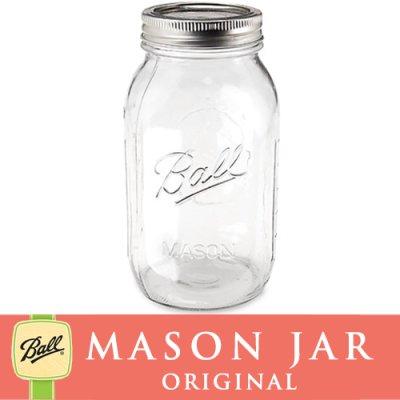 画像1: 【★期間限定セール★】メイソンジャー 32oz  レギュラーマウス  Ball Mason jar オリジナル クリア