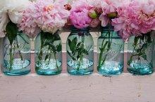 他の写真2: アンティーク メイソンジャー Ball Mason jar  ビンテージ Quart(クォート) ワイヤー型 ブルー×ホワイト蓋