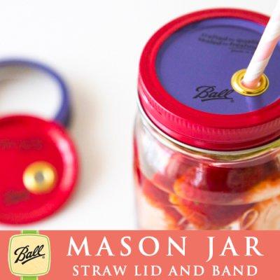 画像5: メイソンジャー Ball社 レギュラーマウス用 ストロー用蓋 フタ Mason jar レッド