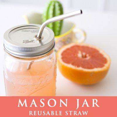 画像3: メイソンジャー Ball Mason jar タンブラー 繰り返し使えるステンレス ストロー1本