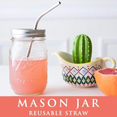 画像1: メイソンジャー Ball Mason jar タンブラー 繰り返し使えるステンレス ストロー1本