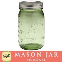 【★期間限定セール★】メイソンジャー 32oz  ワイドマウス  Ball Mason jar オリジナル グリーン