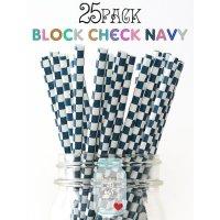 メイソンジャー Ball Mason jar タンブラー ストロー25本入り Block Check Navy