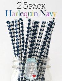 メイソンジャー Ball Mason jar タンブラー エコ 再生可能 紙ストロー25本入り サーキュラーエコノミー Harlequin Navy