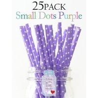 メイソンジャー Ball Mason jar タンブラー ストロー25本入り Small Dots Purple