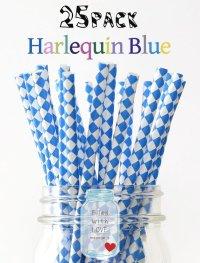 メイソンジャー Ball Mason jar タンブラー エコ 再生可能 紙ストロー25本入り サーキュラーエコノミー Harlequin Blue