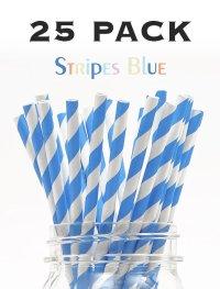 メイソンジャー Ball Mason jar タンブラー エコ 再生可能 紙ストロー25本入り サーキュラーエコノミー Stripes Blue