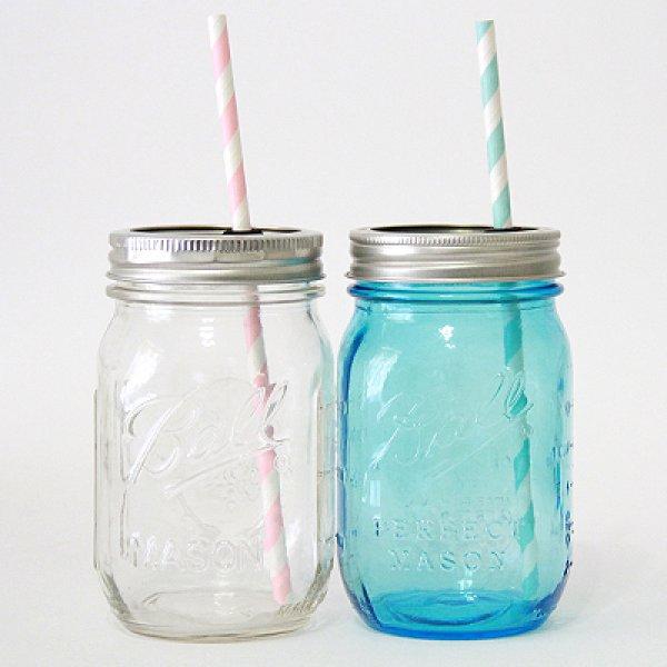 画像4: メイソンジャー Ball Mason jar タンブラー 繰り返し使えるプラスチックストロー1本 (4)